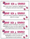 Winter Roll A Sentence Literacy Center