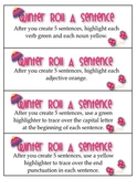 Winter Roll A Sentence Literacy Center