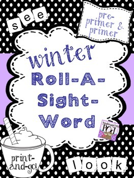 Winter Roll-A-Sight-Word!