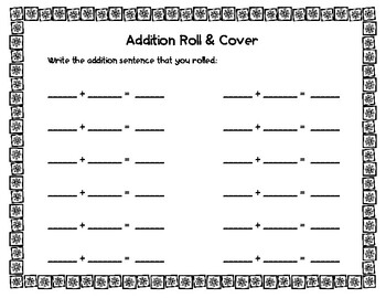 Winter Roll & Cover- Addition & Subtraction