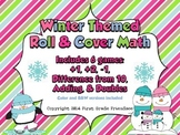 Winter Roll & Cover Math: Addition, Subtraction & Doubles