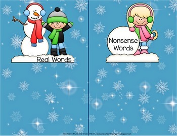 Winter 'Roll, Say, Keep' for CVC Words!