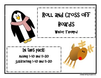Roll and Add/Subtract-winter theme