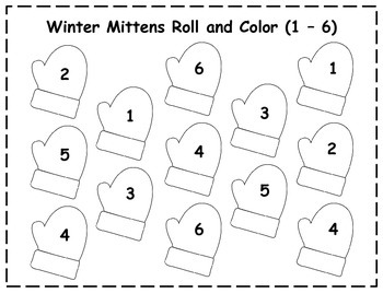 Winter Roll and Color {FREEBIE}
