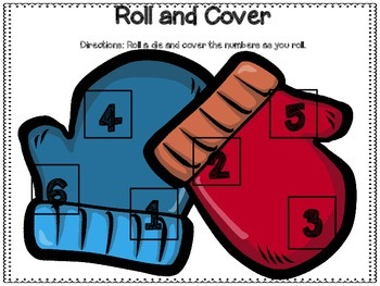 Winter Roll and Cover Dice Games