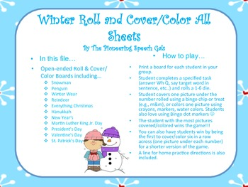 Winter Roll and Cover/Color Boards