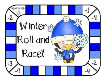 Winter Roll and Race Game