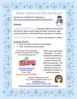 Winter Roll and Record Gameboards (Snowman)