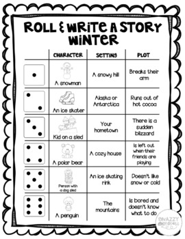 Winter Roll and Write a Story
