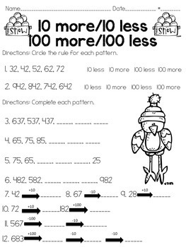 Winter Round up: Language arts and math printables