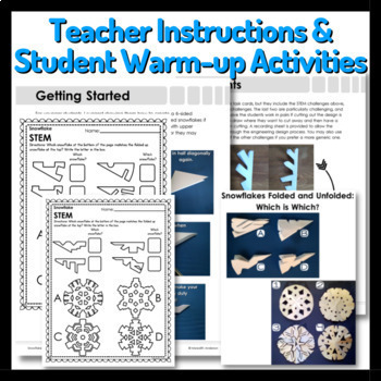Winter STEM Challenges - Snowflake STEM