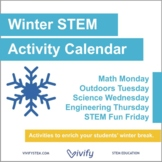 Winter STEM Challenge Calendar: Fun with Math, Science, an