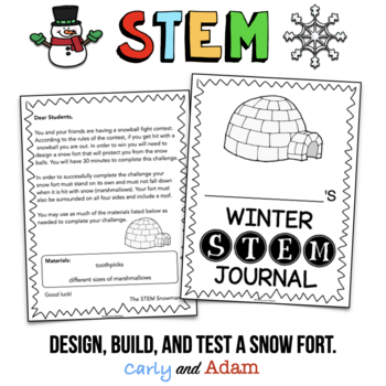 Build a Snow Fort Winter STEM Activity