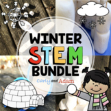 Winter STEM Activities Bundle with 4 Winter STEM Challenges