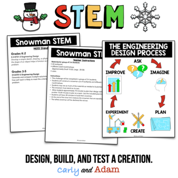 Winter STEM Activities and Winter STEM Challenges BUNDLE