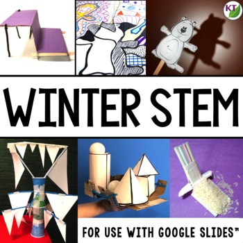 Winter STEM Challenge Bundle 1:1 Paperless Version