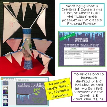 Winter STEM Challenge Frosted Forest 1:1 PAPERLESS
