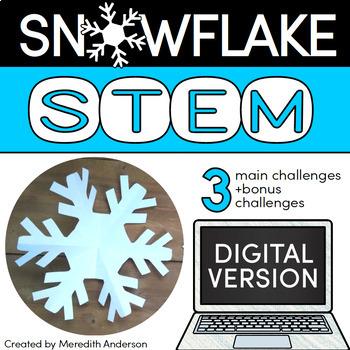 Winter STEM Challenges - Snowflake STEM (digital version)
