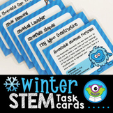 Winter STEM Task Cards (January) - Distance Learning + SeeSaw