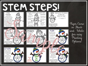 Winter STEM and Writing BUNDLE:  Snowmen Energy STEM and Snowmen at Night