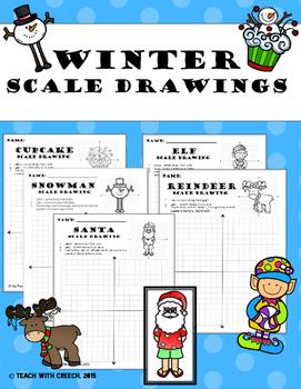 Winter Scale Drawings Bundle