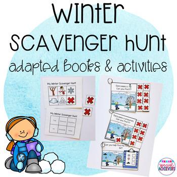 Winter Scavenger Hunt Adapted Books