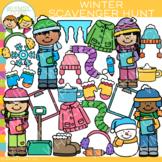 Winter Scavenger Hunt Clip Art