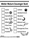 Winter Scavenger Hunt for Nature Walk