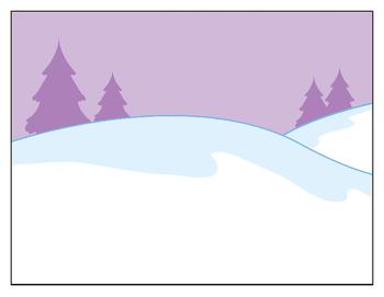 Winter Scene Craft/Cutting Practice