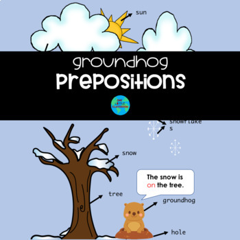 Winter Scene Prepositions