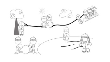 FREE Winter Scene WH- Questions and Spatial Concepts