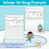 Winter Scene Writing Prompts Sentences Paragraph Word Bank Handwriting NO PREP