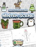 Winter Scene using Math Equations | Activity for Online Gr