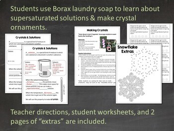 Winter Science Activity: Making Borax Crystals