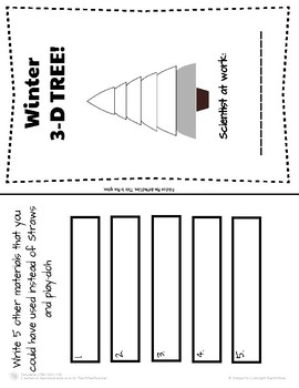 Winter Science: Build the Tallest Straw Winter Tree!