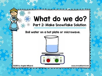 Winter Science Lab: Let It Grow! Snowflake Science Activity - PPT - Grades 3-5
