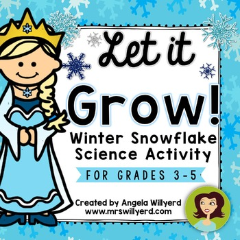 Winter Science Lab: Let It Grow! Snowflake Science Activit