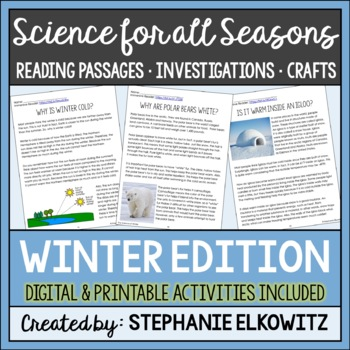 Winter Science Reading Passages and Activities