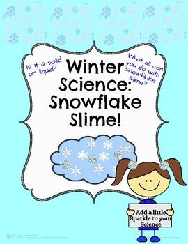 Winter Science: Snowflake Sparkle Slime