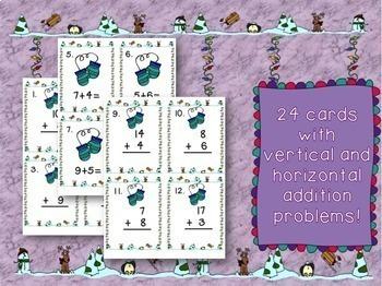 Winter Activities-Four Math Scoot Games!