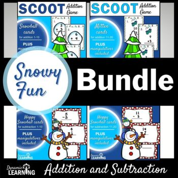 Winter Activities-Four Math Scoot Games!