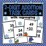 2-Digit Addition (with regrouping) Task Cards