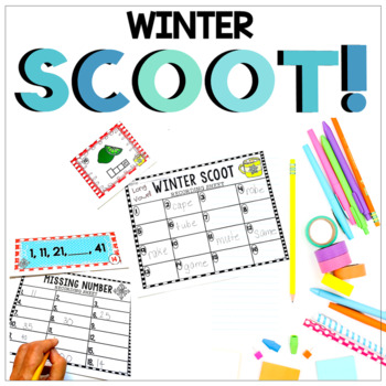 Winter Scoot - Primary Math and ELA - EDITABLE