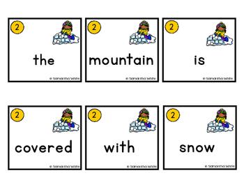 Winter Scrambled Sentences
