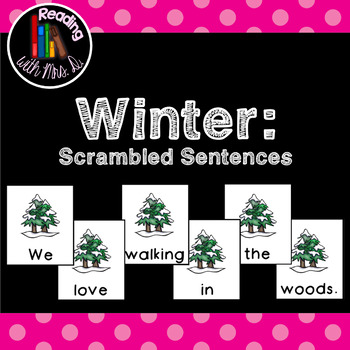 Winter Scrambled Sentences