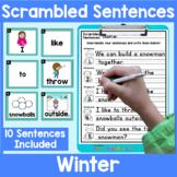 Winter Scrambled Sentences Center