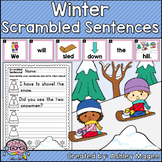 Winter Scrambled Sentences Center