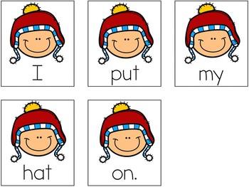 Winter Scrambled Sentences (Writing Station Activity)