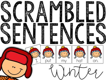 Winter Scrambled Sentences (Writing Station Activity)