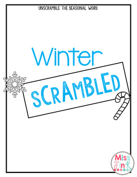 Winter Scrambled: Unscramble the Winter Words!